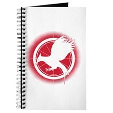 Catching Fire Mockingjay Red Halftone Journal