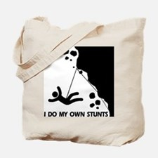 Rock climbing, I Do My Own Stunts Tote Bag