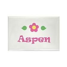 "Pink Daisy - ""Aspen"" Rectangle Magnet"