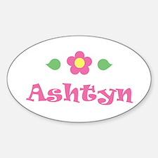 "Pink Daisy - ""Ashtyn"" Oval Decal"