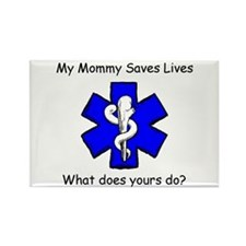 My Mommy saves lives Rectangle Magnet (100 pack)