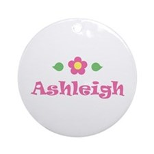 "Pink Daisy - ""Ashleigh"" Ornament (Round)"