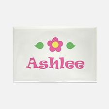 "Pink Daisy - ""Ashlee"" Rectangle Magnet"