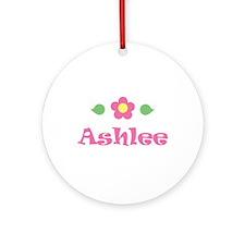 "Pink Daisy - ""Ashlee"" Ornament (Round)"
