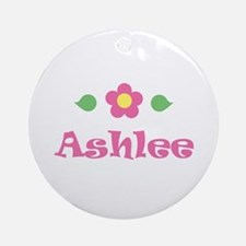 "Pink Daisy - ""Ashlee"" Ornament (Round)"