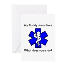 My Daddy saves lives Greeting Cards (Pk of 10)