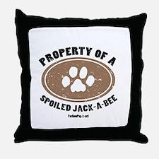 Jack-A-Bee dog Throw Pillow