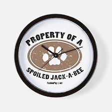 Jack-A-Bee dog Wall Clock