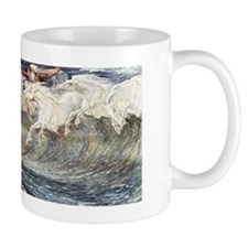Ocean Waves as Horses - Neptunes Horses Mug