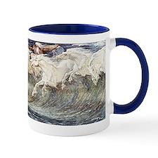 Ocean Waves as Horses - Neptunes Horses Small Small Mug