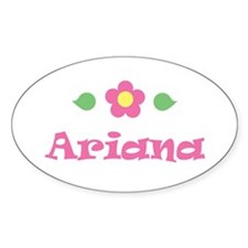 """Pink Daisy - """"Ariana"""" Oval Decal"""
