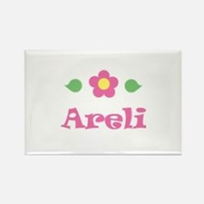 "Pink Daisy - ""Areli"" Rectangle Magnet"