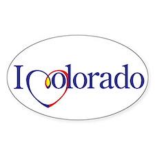 I Heart Colorado Oval Decal
