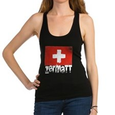 Zermatt Grunge Flag Racerback Tank Top