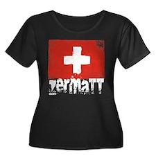 Zermatt Grunge Flag T
