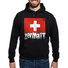 Zermatt Grunge Flag Hoodie