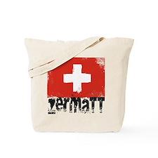 Zermatt Grunge Flag Tote Bag