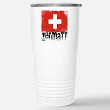 Zermatt Grunge Flag Stainless Steel Travel Mug