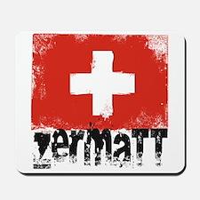 Zermatt Grunge Flag Mousepad