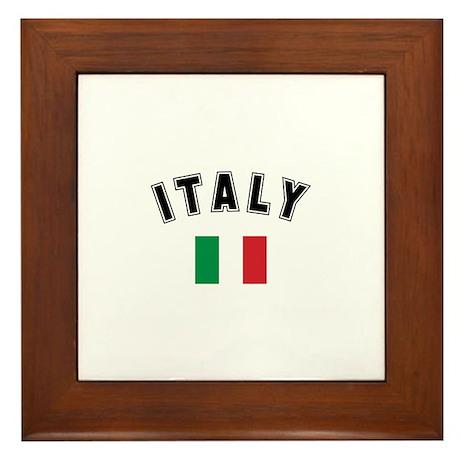 Italian Flag Framed Tile