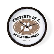 Havamalt dog Wall Clock