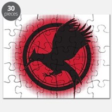 Catching Fire Mockingjay Red and Black Puzzle
