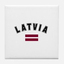 Latvian Flag Tile Coaster