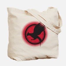 Catching Fire Mockingjay Red and Black Tote Bag