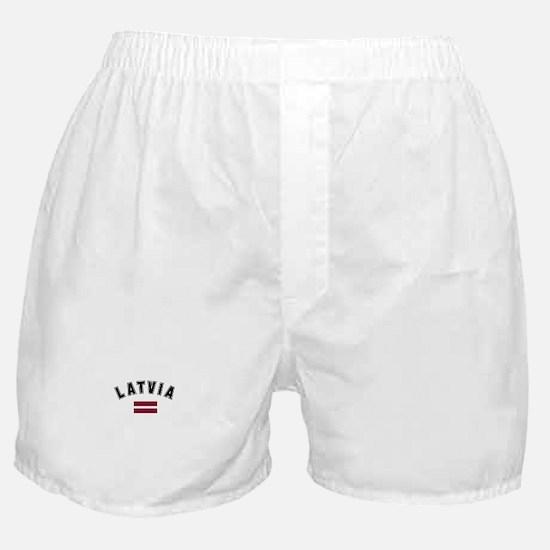 Latvian Flag Boxer Shorts