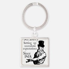 Cute Pride and prejudice Square Keychain