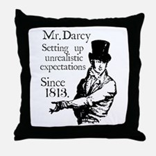 Cute Jane austen Throw Pillow