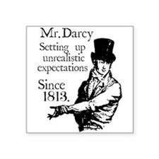 "Cute Pemberley Square Sticker 3"" x 3"""