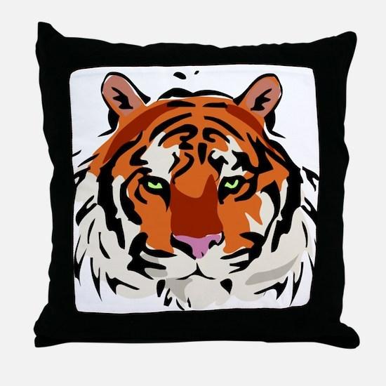 Tiger (Face) Throw Pillow