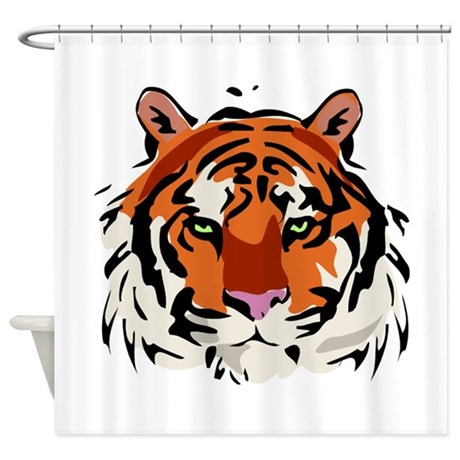 Good Tiger (Face) Shower Curtain