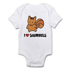 I Love Squirrels Infant Bodysuit