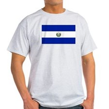 El Salvador flag Ash Grey T-Shirt