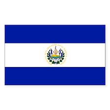 El Salvador flag Rectangle Decal