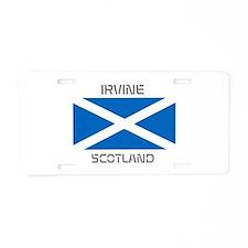 Irvine Scotland Aluminum License Plate