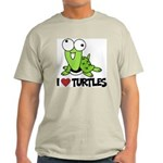 I Love Turtles Ash Grey T-Shirt