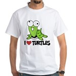 I Love Turtles White T-Shirt