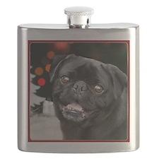 Christmas pug dog Flask