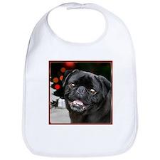 Christmas pug dog Bib