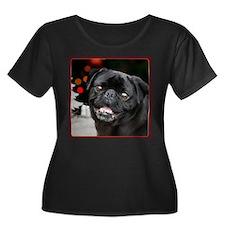Christmas pug dog Plus Size T-Shirt