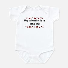 Tosa Inu valentine Infant Bodysuit