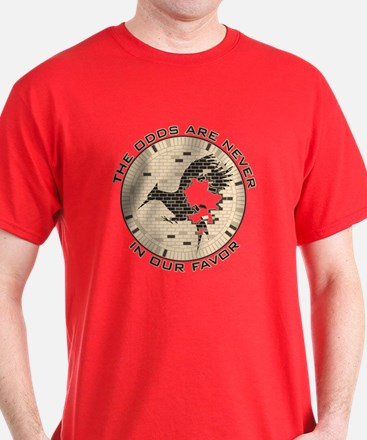 Catching Fire Brick Wall Odds T-Shirt