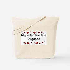 Pugapoo valentine Tote Bag