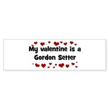 Gordon Setter valentine Bumper Bumper Sticker