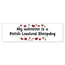 Polish Lowland Sheepdog valen Bumper Bumper Sticker