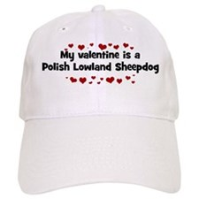Polish Lowland Sheepdog valen Baseball Cap