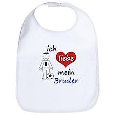 Ich liebe mein Bruder - in German. Translation: I